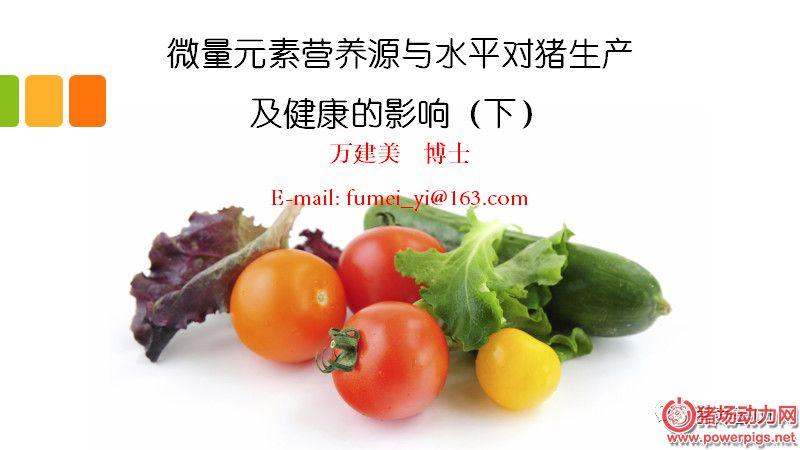【PPT】微量元素营养源与水平对猪生产及健康的影响(下)