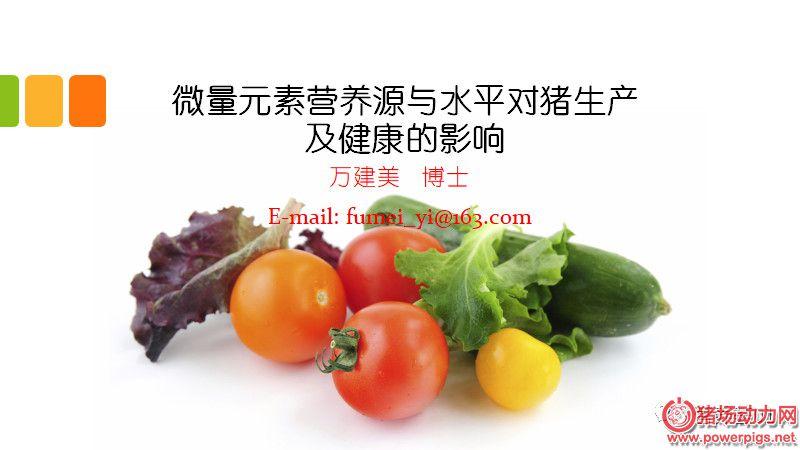 【PPT】微量元素营养源与水平对猪生产及健康的影响(上)