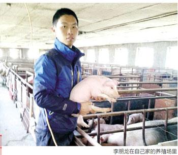 大学生放弃高薪去养猪 网络推广能致富